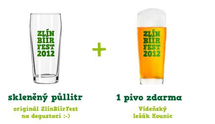 Pivo a sklenice
